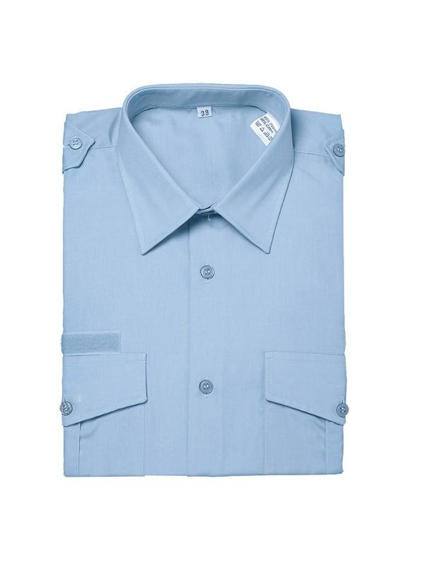 chemise homme bleu ciel hiver velcro poitrine et bras ref 573. Black Bedroom Furniture Sets. Home Design Ideas